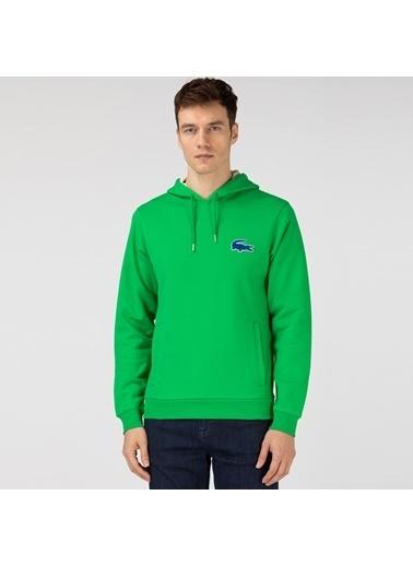 Lacoste Erkek Kapüşonlu Sweatshirt SH0056F.QMN Yeşil